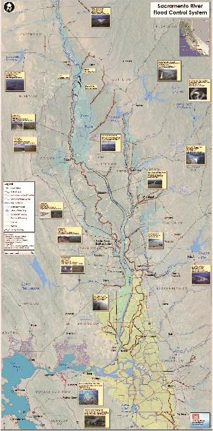 Map Of California Flooding.Flood Protection Northern California Water Association